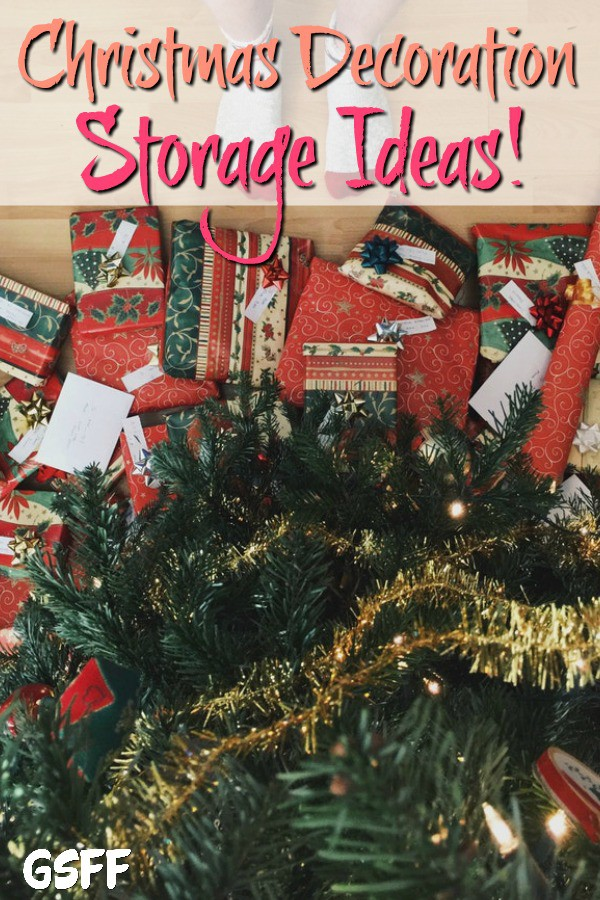 Need Christmas Decoration Storage ideas? From Christmas lights, Christmas trees, to Christmas ornament storage ideas & more.  These tips will get you organized!