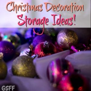 Christmas Decoration Storage Ideas!