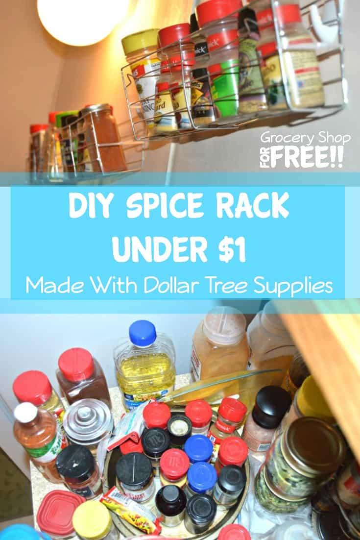 DIY Dollar Tree Spice Rack Under $1