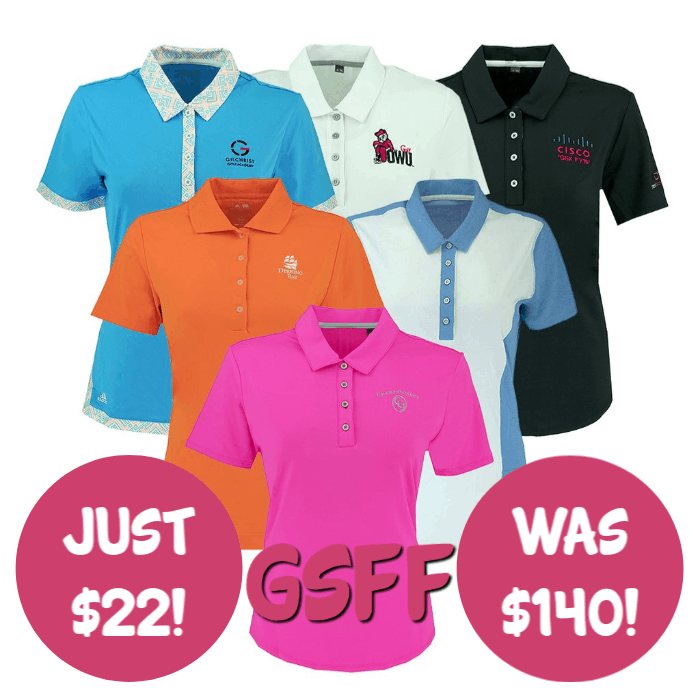 2-Pack Adidas Women's Logo Overrun Polo Shirt Just $22! Down From $140! FREE Shipping!