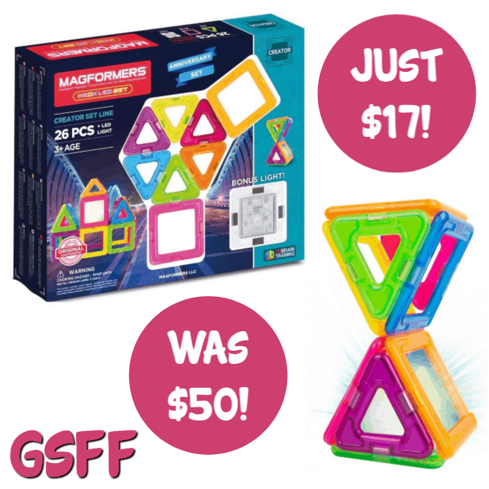 Magformers 26-Piece Neon Magnetic Tile Set Just $17! Down From $50! PLUS FREE Shipping!