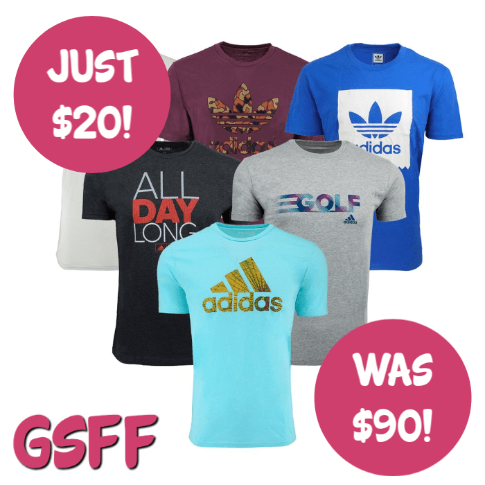 Adidas Men's 3-Pack Mystery T-Shirts Just $20! Down From $90! FREE Shipping!