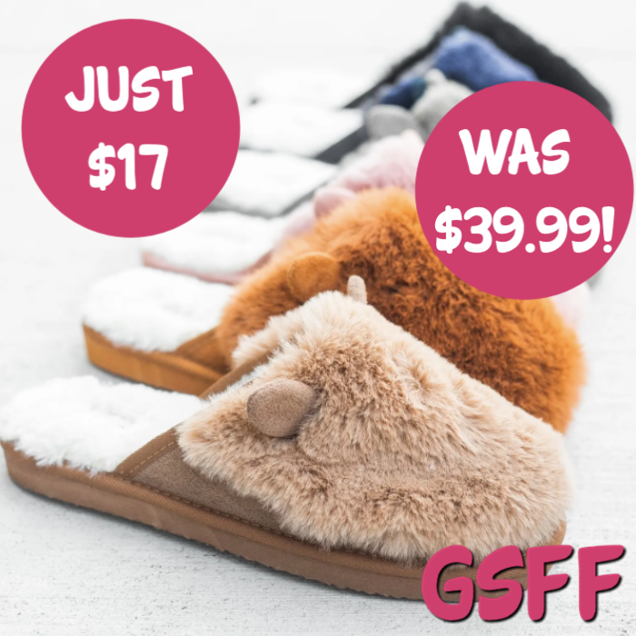 Fuzzy Bunny Ear Slippers Just $17! Down From $40! PLUS FREE Shipping!