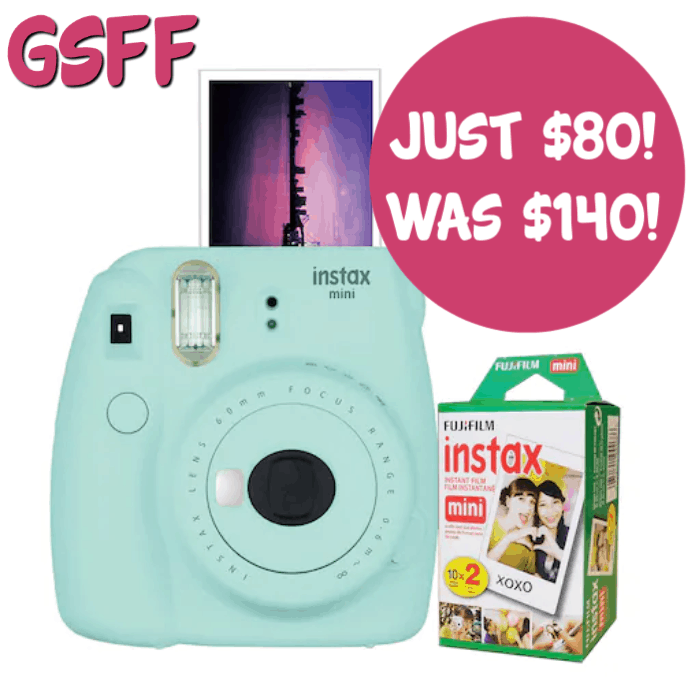 Fujifilm Instax Mini 9 Instant Film Camera Bundle Just $80! Down From $140! FREE Shipping!