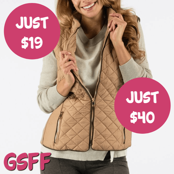 True Rock Women's Quilted Full Zip Vest Just $19! Down From $40! FREE Shipping!