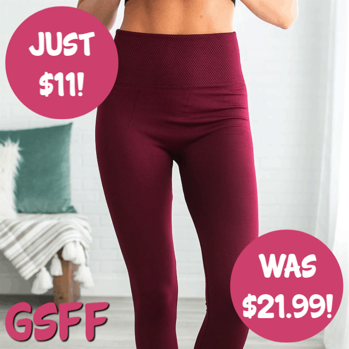 Tummy Control Fleece Leggings Just $10.99! Down From $22! FREE Shipping!