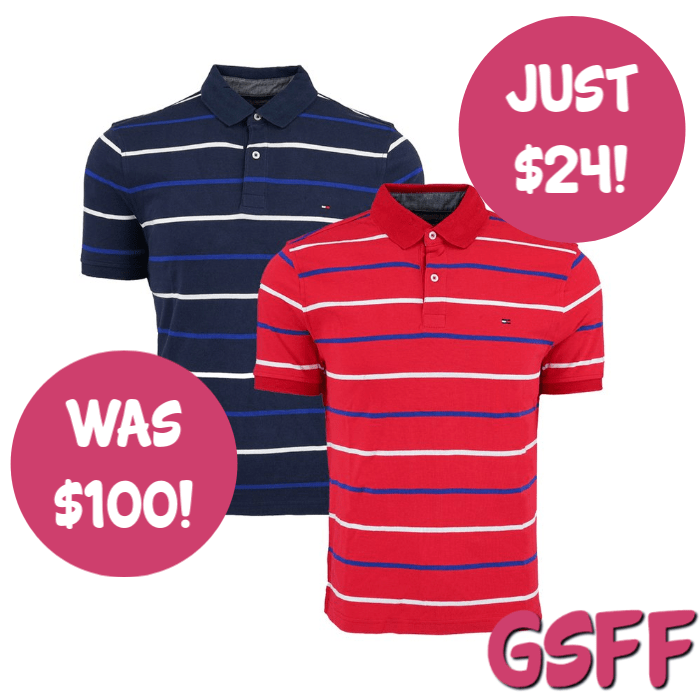 Tommy Hilfiger 2-Pack Men's Striped Polo Just $24! Down From $100! FREE Shipping!