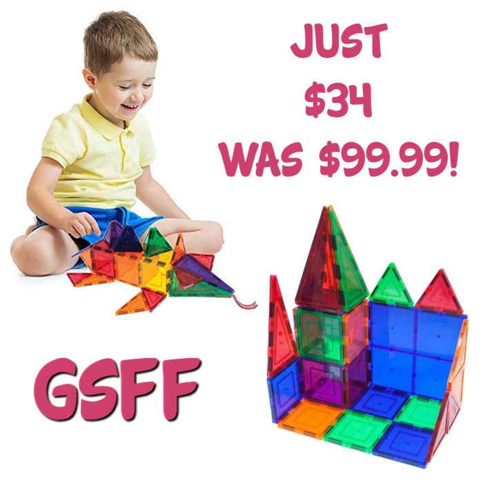 PicassoTiles 60-Piece Magnet Building Tiles Set Just $34! Down From $100! PLUS FREE Shipping!