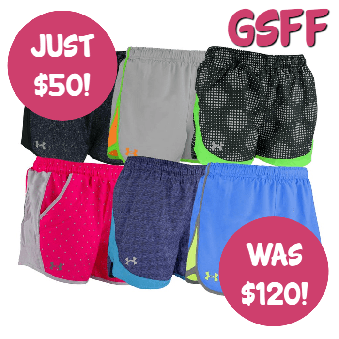 Under Armour 3-Pack Women's Running Shorts Just $50! Down From $120! FREE Shipping!
