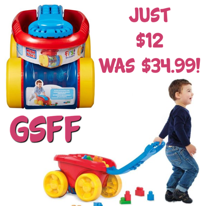 Mega Bloks First Builders Block Scooping Wagon Just $12! Down From $35!
