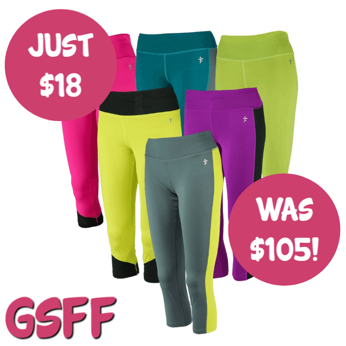 Tru Fit 3-Pack Women's Fitness Capri Leggings Just $18! Down From $105! FREE Shipping!