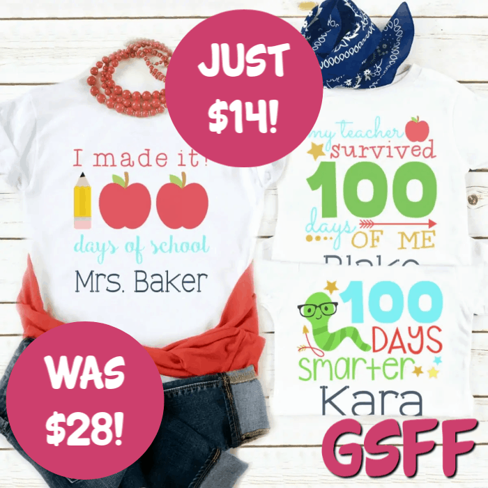 100th Day of School Tees Just $14! Down From $28! FREE Shipping!