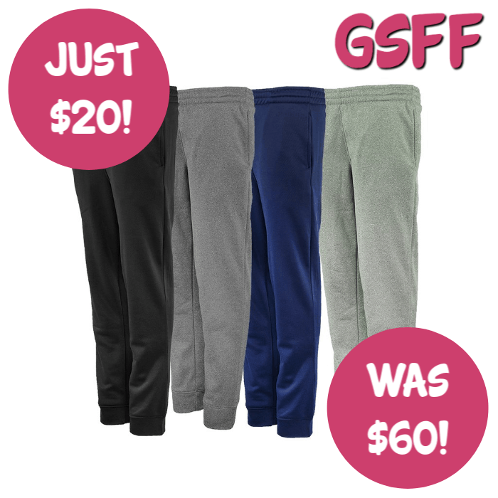 Champion Boys' 3-Pack Performance Pants For Just $20! Down From $60! FREE Shipping!