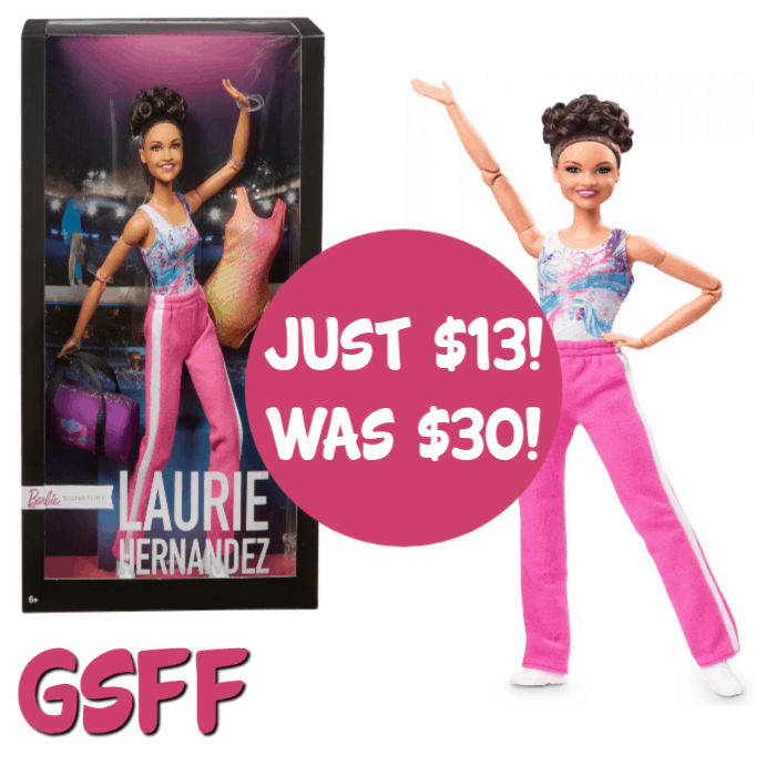 Laurie Hernandez Barbie Doll Just $13! Down From $30! FREE Store Pickup!