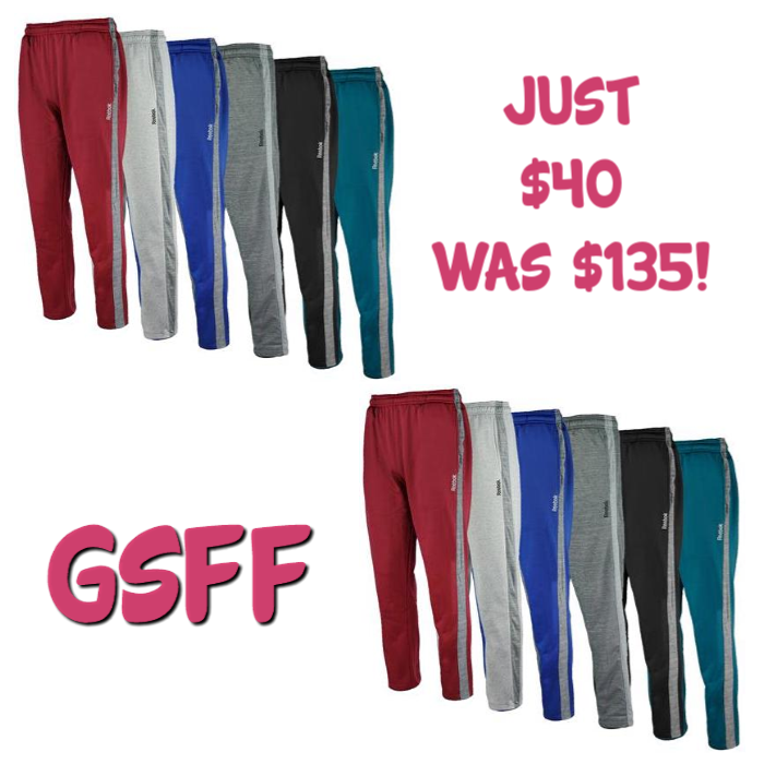 Reebok Men's 3-Pack Fleece Pants Mystery Gift Just $40! Down From $135! PLUS FREE Shipping!