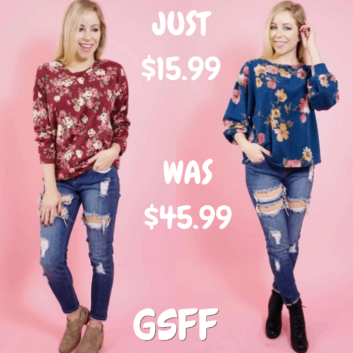 Fleece Floral Top