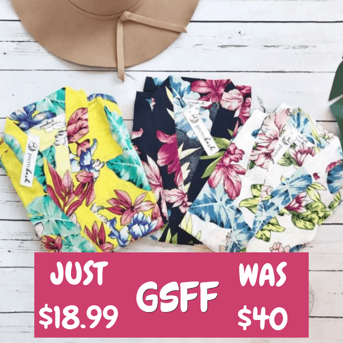 Tropical Print Kimonos