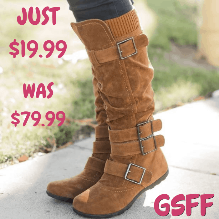 Winter Buckle Boots Just $19.99! Down From $80! Shipped!