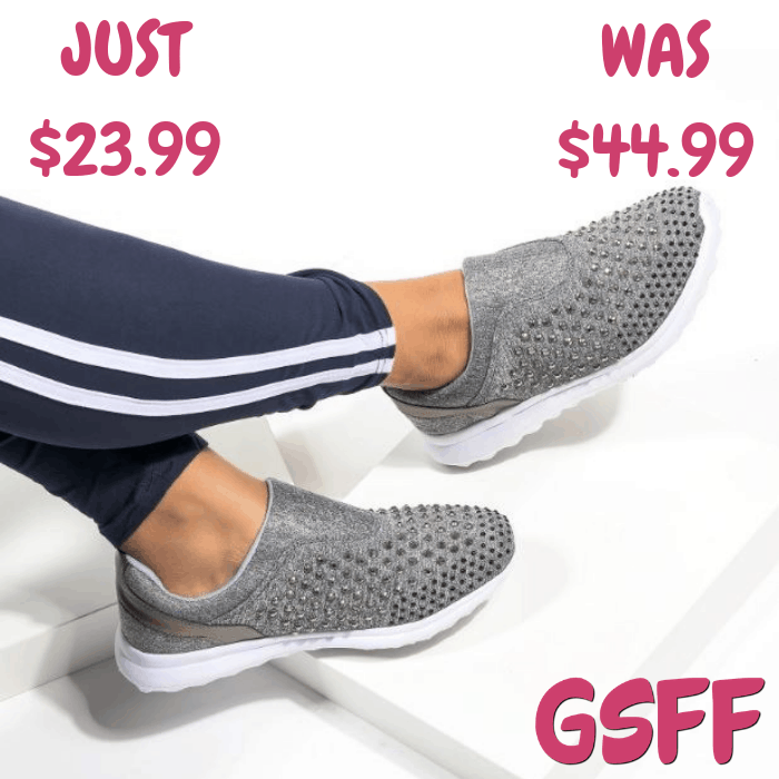 Crystal Slip-on Sneakers