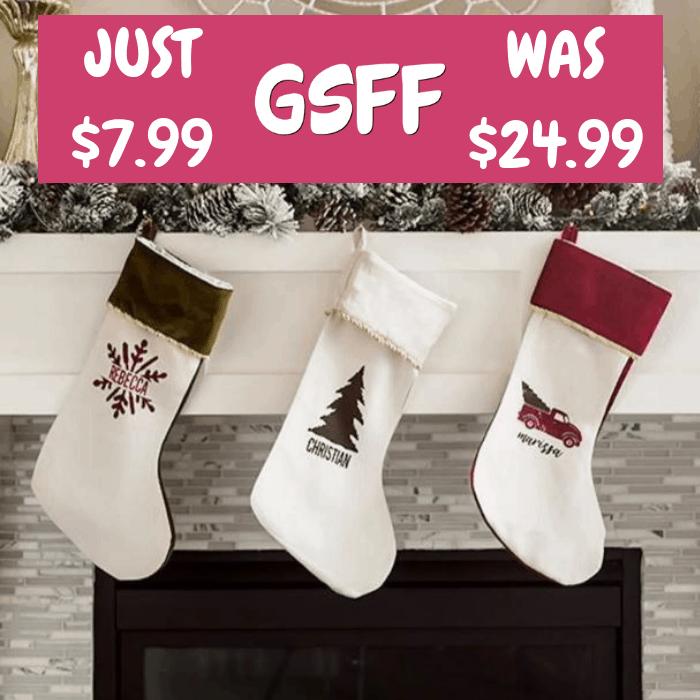 Personalized Velvet Stockings