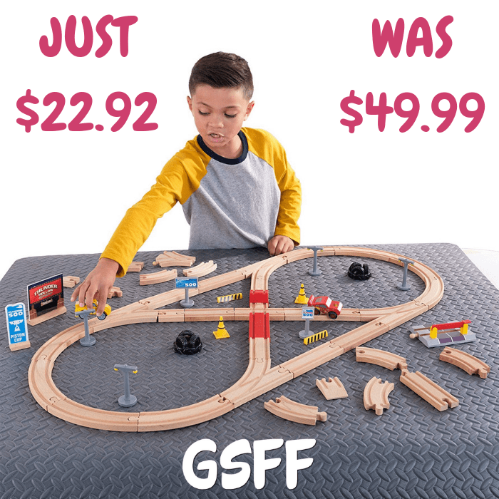 55-Piece Wooden Racetrack