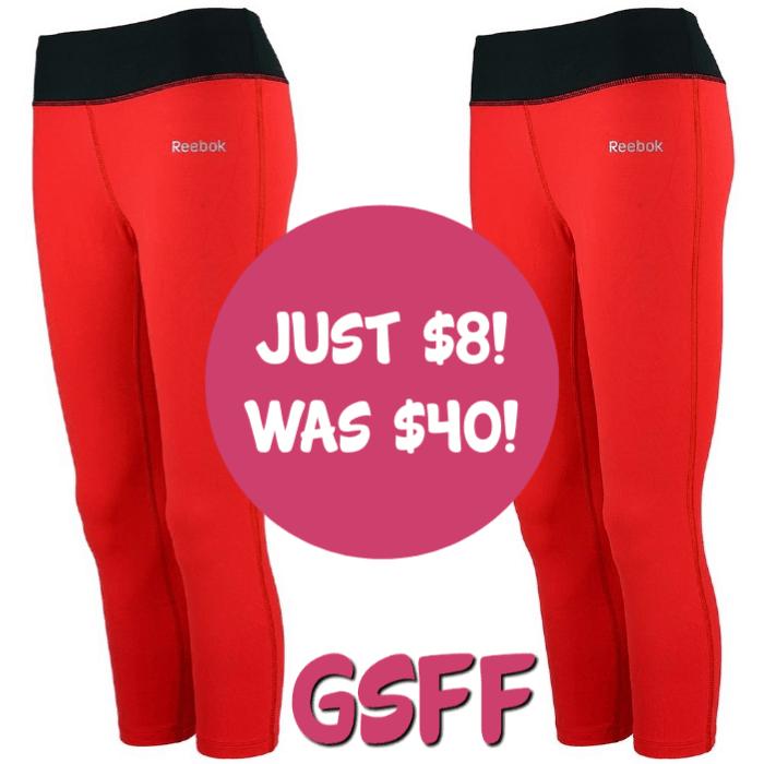 Reebok Women's Capri Leggings Just $8! Down From $40! FREE Shipping!