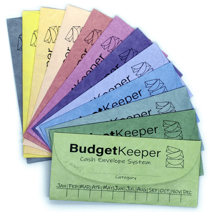 Budget Keeper Tear And Water Resistant Cash Envelope