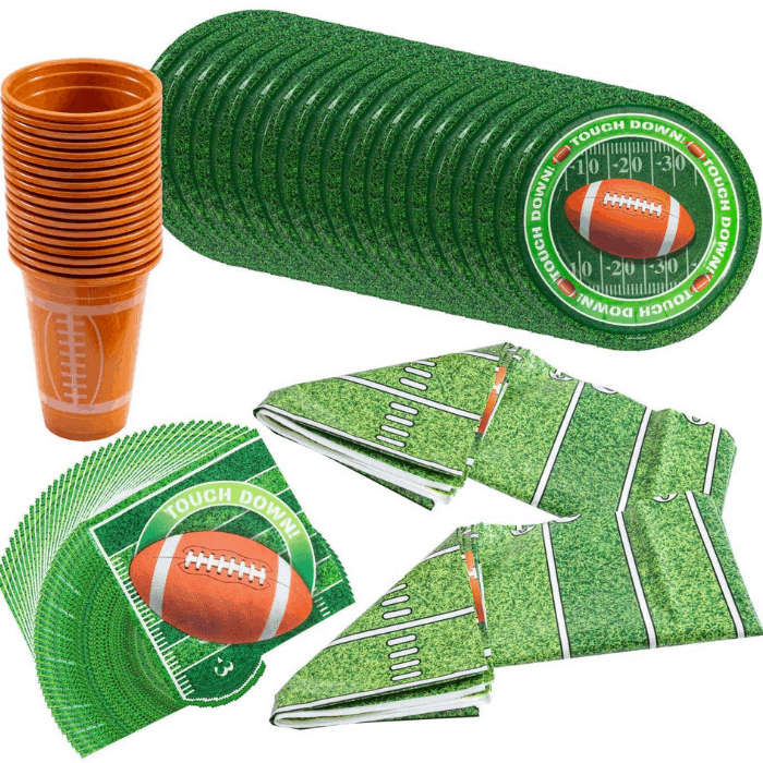 JOYIN Football Themed Touchdown Party Supplies