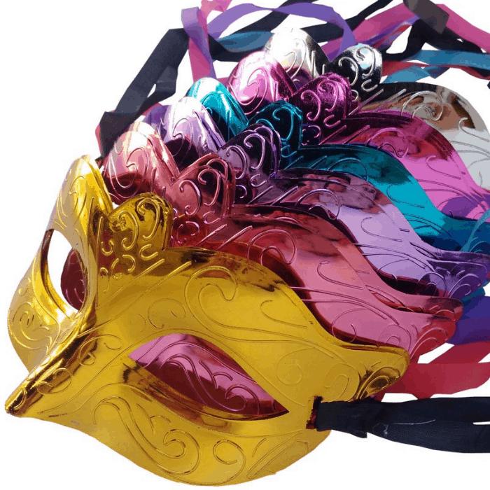 12-Pack Masquerade Mardi Gras Mask