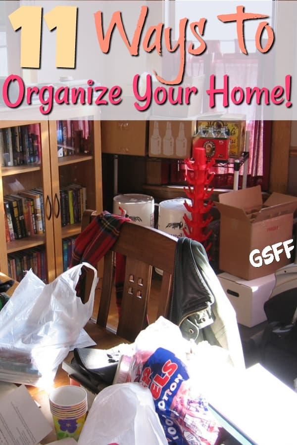 Looking for ways to organize your home?  These home organization tips will help! Whether you need to organize your room, or need room by room organization tips.