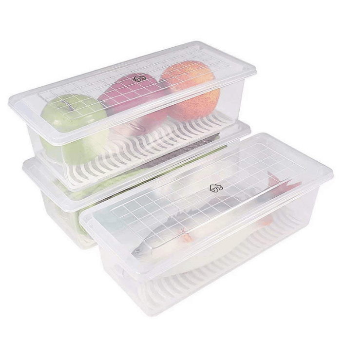 77L 3-Piece Plastic Food Storage Container
