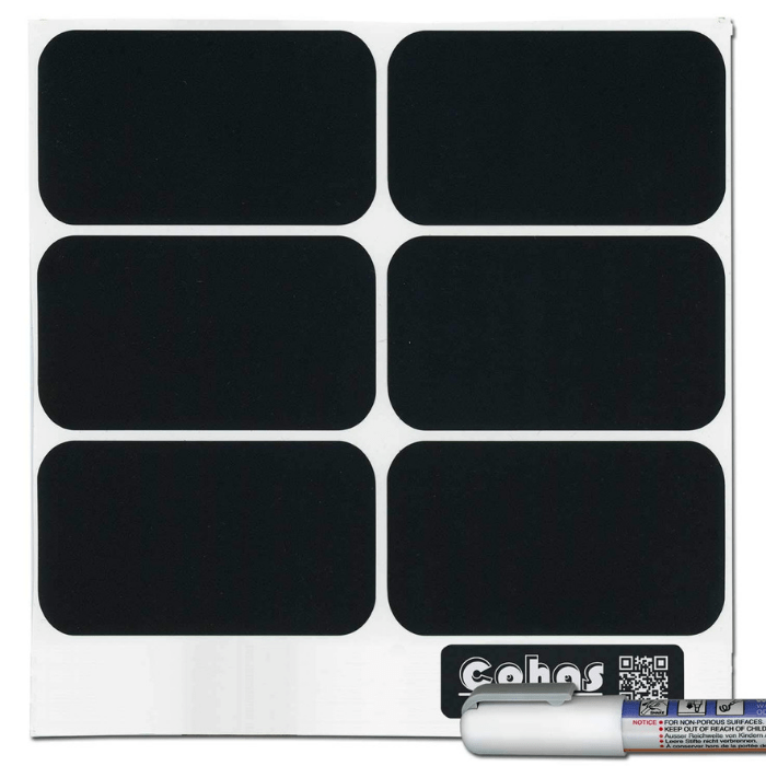 Cohas Large Rectangle-Shaped Chalkboard Labels