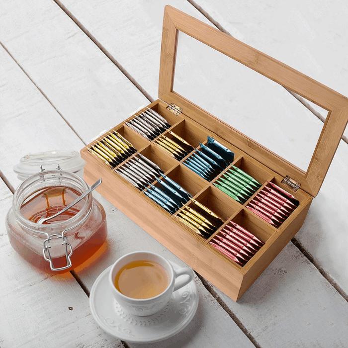 Estilo Bamboo Tea Storage Box