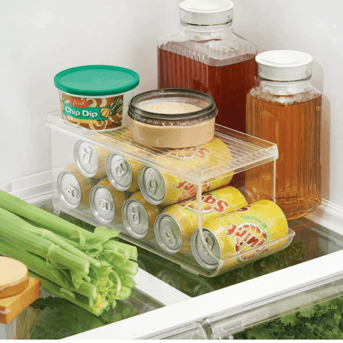 InterDesign Refrigerator Soda Can Organizer