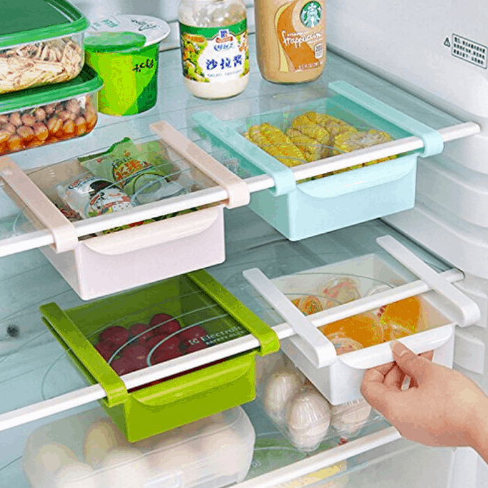 Hineway Fridge Storage Sliding Drawer