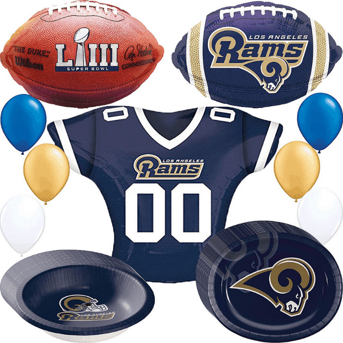 Los Angeles Rams Super Bowl Party Supplies