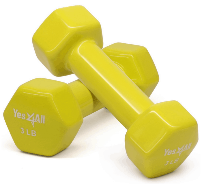 Yes4All Deluxe Vinyl Coated Dumbbells
