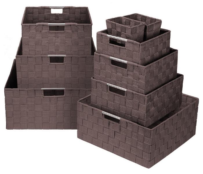 Sorbus Storage Box Woven Basket Bin