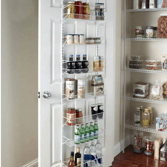 Door Spice Wall Mount Pantry Rack