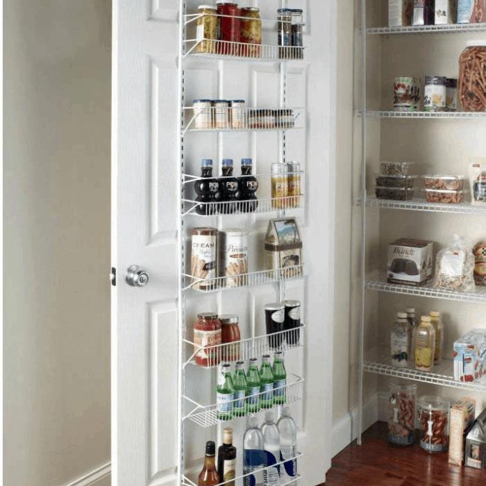 Door Spice Wall Mount Pantry Rack