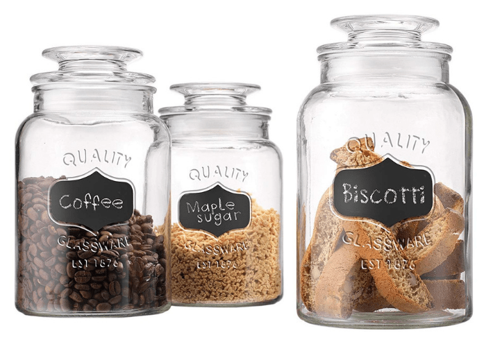 Apothecary 3-Piece Glass Canister Jars