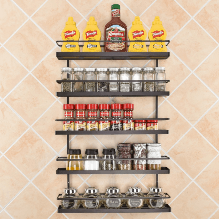 5-Tier Wall Mount Rack Organizer