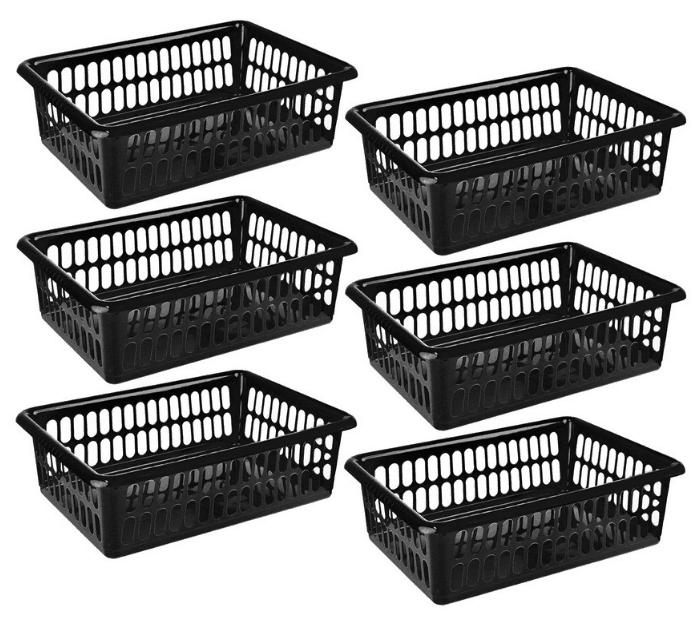 Zilpoo 6-Pack Plastic Storage Organizing Basket