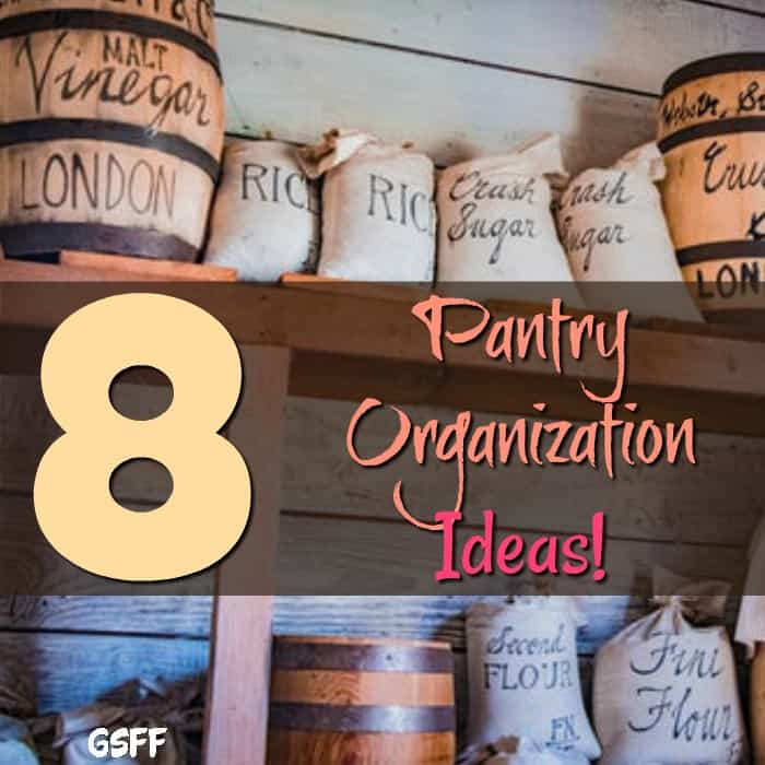 Need help organizing your pantry?  Over the door pantry organization?  Pantry shelf organization?  Where to start? Right here with 8 Pantry Organization Ideas!