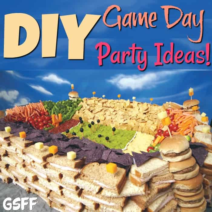 Here are some great ideas for an awesome DIY Game Day Party!  From Game Day food, appetizers, & snacks, to Game Day decorations - we've got you covered!