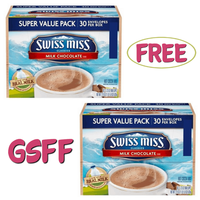 FREE Swiss Miss Classics Milk Chocolate Hot Cocoa Mix!