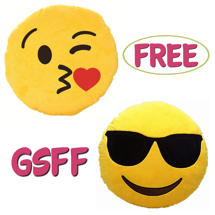 FREE Emoji Soft Cushion Pillow!