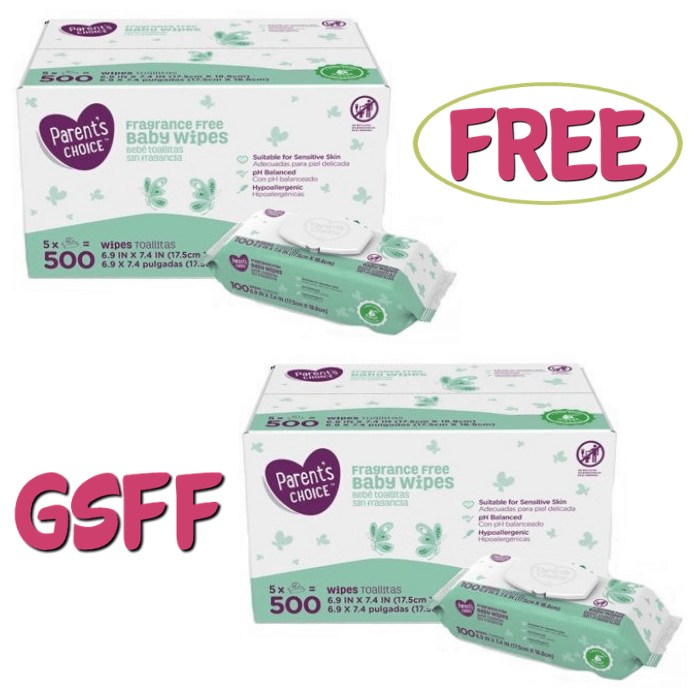 FREE 500-Count Parent's Choice Baby Wipes!