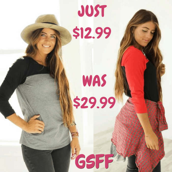 Color Block Tees Just $12.99! Down From $30! Shipped!