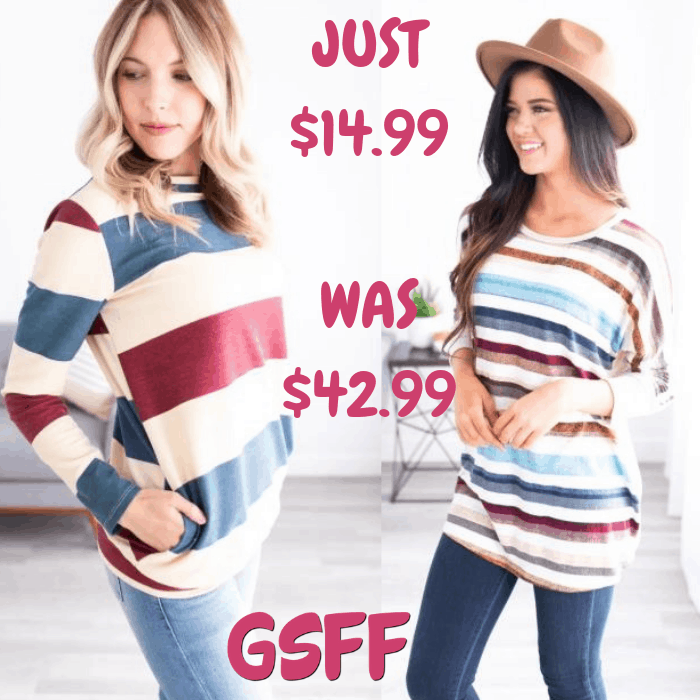 Winter Striped Top